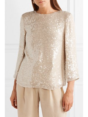 Sally Lapointe sequined gauze top