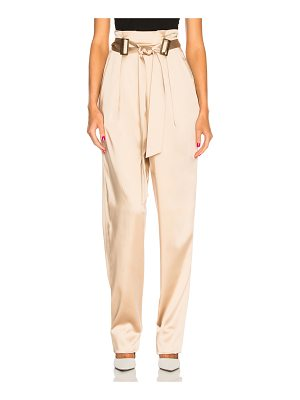 Sally Lapointe Stretch Satin Belt Tapered Pant