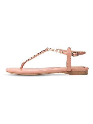 Salvatore Ferragamo 10mm tahiti leather thong sandals