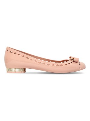 Salvatore Ferragamo 20mm jelly laser-cut pvc ballerina flats