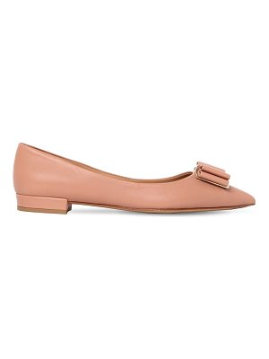 Salvatore Ferragamo 20mm zeri leather ballerinas