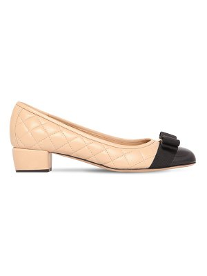 Salvatore Ferragamo 30mm vara quilted leather pumps