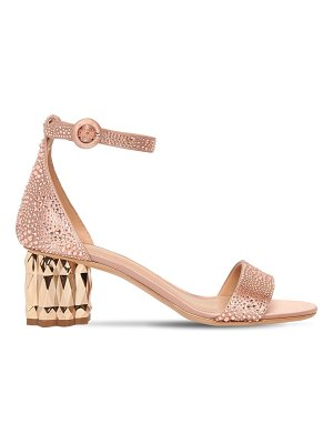 Salvatore Ferragamo 55mm azalea embellished satin sandals