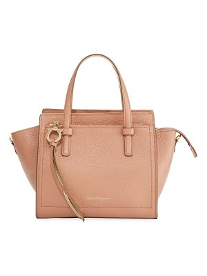 Salvatore Ferragamo Amy Small Bicolor Leather Satchel Bag