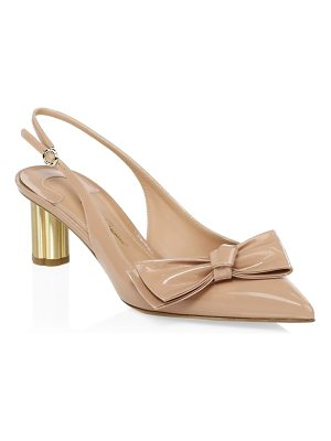 Salvatore Ferragamo aulla patent leather slingback pumps