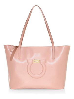 Salvatore Ferragamo city gancio leather tote