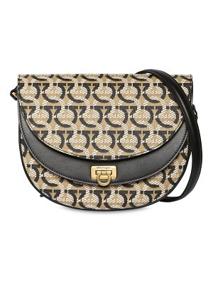 Salvatore Ferragamo Gancini logo coated canvas shoulder bag
