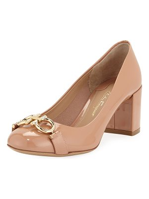 Salvatore Ferragamo Gancini Patent 55mm Pump