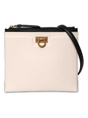 Salvatore Ferragamo Gancio squared leather shoulder bag