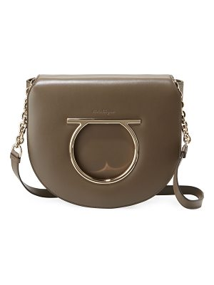 SALVATORE FERRAGAMO Large Gancio Leather Shoulder Bag
