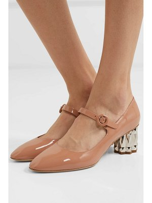 Salvatore Ferragamo ortensia patent-leather mary jane pumps