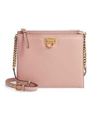 Salvatore Ferragamo small gancio square leather crossbody bag