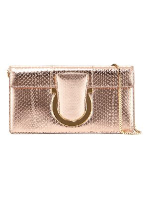 SALVATORE FERRAGAMO Small Snakeskin Clutch Bag