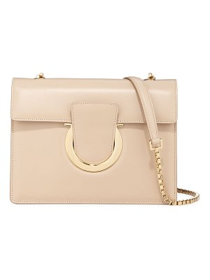 Salvatore Ferragamo Thalia Medium Leather Gancini Flap Shoulder Bag