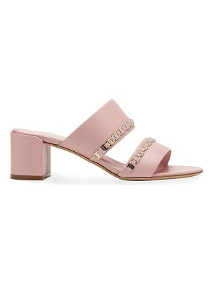 Salvatore Ferragamo trabia embellished leather mules