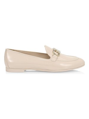 Salvatore Ferragamo trifoglio patent leather loafers