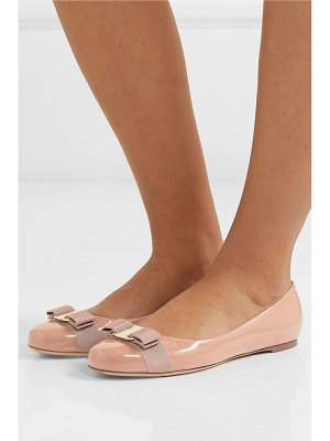 Salvatore Ferragamo varina bow-detailed patent-leather ballet flats