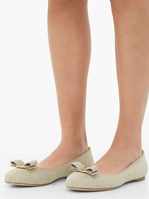 Salvatore Ferragamo varina glittered leather ballet flats