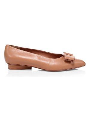 Salvatore Ferragamo viva bow leather ballerina flats