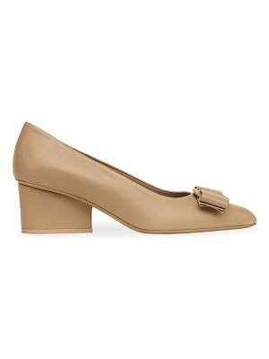 Salvatore Ferragamo viva bow leather pumps
