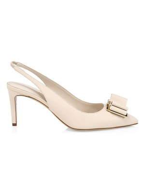 Salvatore Ferragamo zahir leather slingback pumps