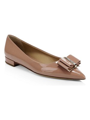 Salvatore Ferragamo zeri point toe bow flats