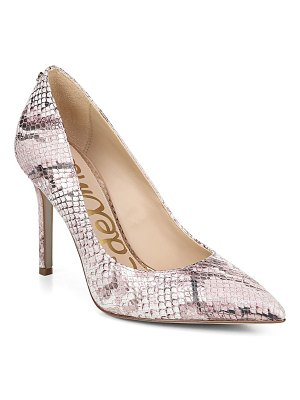 Sam Edelman hazel snakeskin stiletto pumps