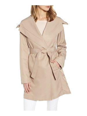 Sam Edelman hooded wrap trench coat