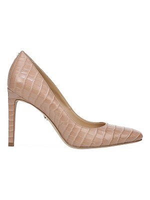 Sam Edelman lucea square-toe croc-embossed leather pumps