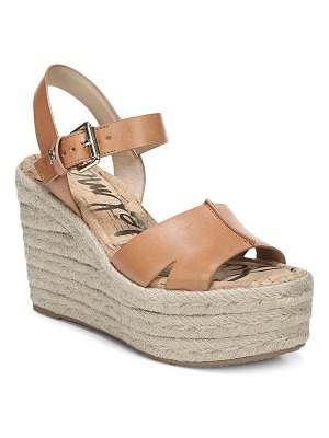 Sam Edelman maura leather platform wedge espadrilles
