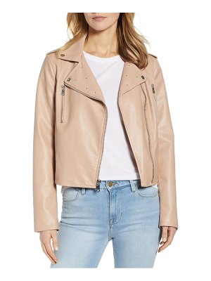 Sam Edelman washed faux leather moto jacket