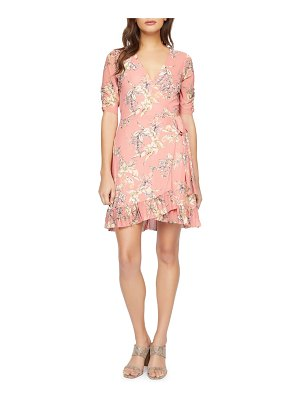 Sanctuary floral wrap minidress