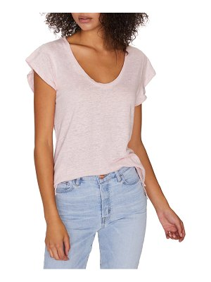 Sanctuary ruby scoop neck linen tee