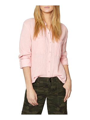 SANCTUARY Steady Boyfriend Roll Tab Shirt
