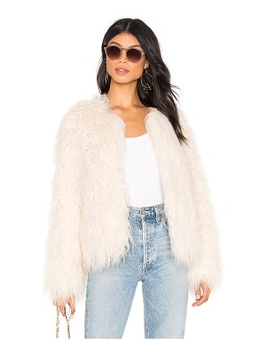 Sanctuary Studio Fifty Faux Fur Cropped Jacket