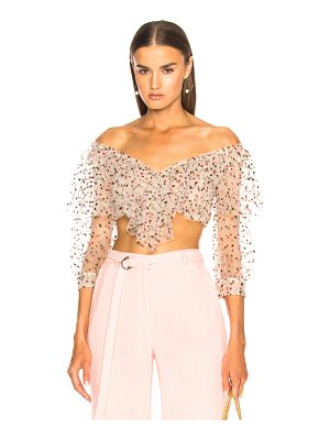Sandra Mansour Sable Rose Top