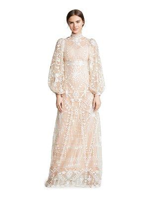 Sandra Mansour tulle long sleeve dress