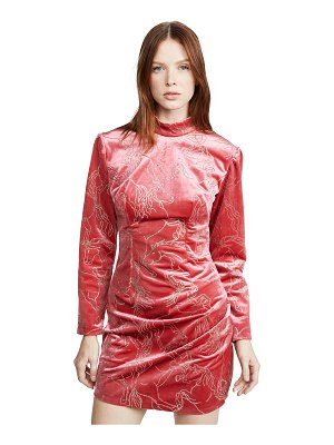 Sandra Mansour velvet glitter mini dress