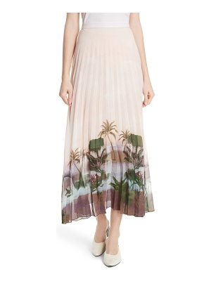 Sandro accordion pleat skirt