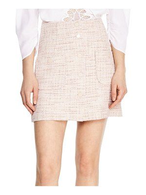 Sandro agatha tweed a-line skirt