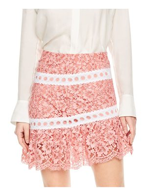 Sandro devon tiered lace mini skirt