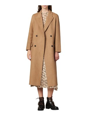 Sandro jims double breasted wool coat