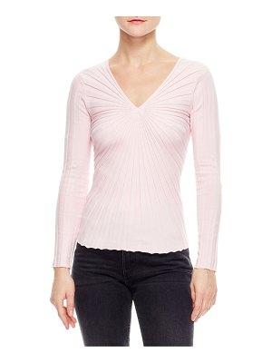 Sandro justine slim-fit v-neck knit sweater
