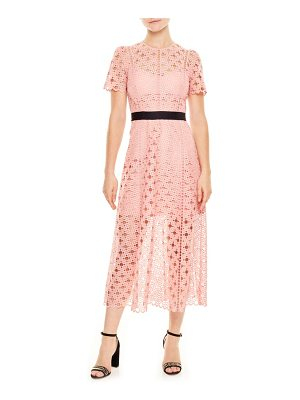 Sandro pivoine eyelet lace dress