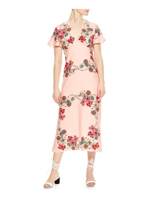 Sandro tissia floral crepe dress