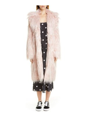 Sandy Liang long faux fur coat
