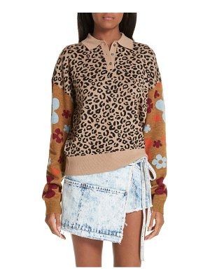 Sandy Liang paw paw polo sweater
