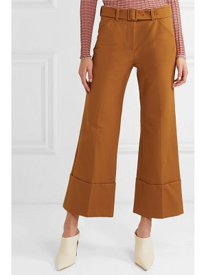 SARA BATTAGLIA cropped crepe flared pants