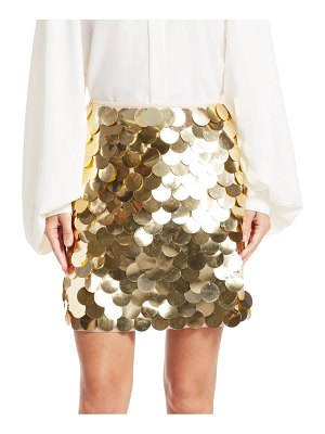 SARA BATTAGLIA metallic pailette mini a-line skirt