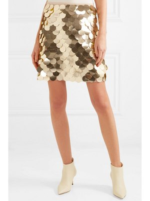 SARA BATTAGLIA sequined tulle mini skirt